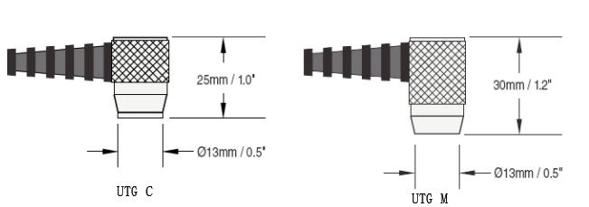 Defelsko UTG C1超声波壁厚仪尺寸图